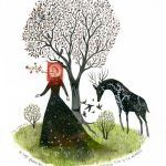 Vintage Postage Stamps Inspire Fanciful Storybook Scenes Painted by Illustrator Diana Sudyka
