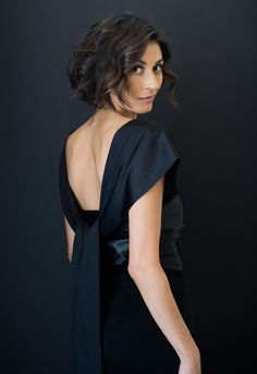 Low Back shot: Shoulder drape and down the back tie loosely and let it fall.