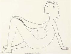 Pablo Picasso, Seated Nude in Profile (M. 103; B. 454)