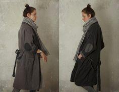 REVERSIBLE LINEN robe / coat. open front by KnockKnockLinen
