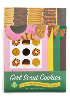 Girl Scout Stationery Set.  COOKIES.