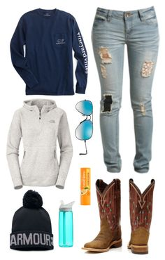 A fashion look from March 2017 by im-a-jeans-and-boots-kinda-girl featuring The North Face, Wet Seal, Ray-Ban, Under Armour and CamelBak Country Style Outfits, Country Wear, Country Fashion, Country Life, Cute Casual Outfits, Fall Outfits, Fashion Outfits, Stylish Outfits, Fashion Women