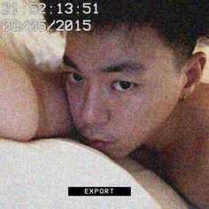 I think he really likes sleeping naked..or shirtless at least.Never mind,it's good for my health lol