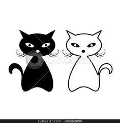 kočky černá bílá