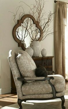 Merveilleux Harris Chair U0026 Quatrefoil Mirror