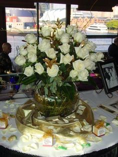 50th Anniversary Party Flowers at Rusty Scupper