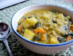 Split Pea Yam Soup (amazing flavor and no need for salt when adding chard for the greens. They naturally have a salty flavor that works nicely in the soup)