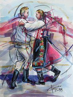 Na tanci pod Kraľovou Hoľou / pucik - SAShE. European Countries, Czech Republic, Poland, Activities For Kids, Princess Zelda, Gallery, Painting, Inspiration, Fictional Characters