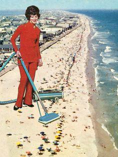 Dry Cleaning Trop de monde à la plage, allez hop un petit coup d'aspi t l'affaire est dans le sac!