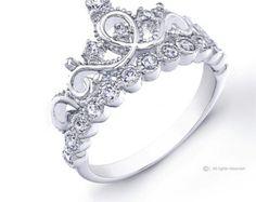 Zierlichen 925 Sterling Silber Krone Ring / von JewelsObsession