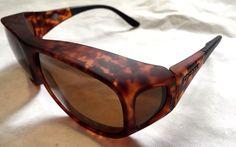 baf8a3117d3 Cocoons Fitovers Polarized Sunglasses Pilot LG Tortoise Frame amber Lens  for sale online