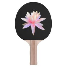 Shop Beautiful Pink Lily Lotus Art Cool Unique Ping Pong Paddle created by TianxinZheng. Table Tennis Bats, Lotus Art, Ping Pong Paddles, Pink Lily, Sports Art, Beautiful, Cool Stuff, Elegant, Unique