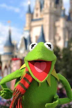 Bieber, Aguilera, Hudson and more celebs star in 2011 Disney Parks Christmas Day Parade TV special at Disney World, Disneyland Christmas Day Parade, Disney Christmas, Christmas Holiday, Miss Piggy, Jim Henson, Disney Parks, Sapo Kermit, Les Muppets, Sapo Meme