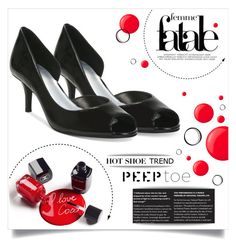 """Peeptoe Pumps"" by tawnee-tnt ❤ liked on Polyvore featuring Butter London, Elie Tahari and peeptoe"