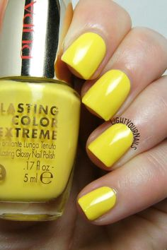 Smalto Pupa Lasting Color Extreme 040 Yellow Side nail polish @PUPAMILANO