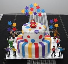 Homemade Wiggles Birthday Cake: This cake was made for my daughter's 3rd birthday. She is obsessed with the Wiggles so it was easy to pick the theme for the cake. Cake is 2 layers of