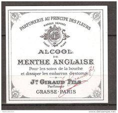 ETIQUETTES  DE  FLACON   DE  PARFUM  Jean  GIRAUD  GRASSE