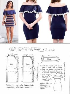ideas for sewing clothes diy dress free pattern Sewing Dress, Dress Sewing Patterns, Diy Dress, Sewing Patterns Free, Sewing Clothes, Sewing Tutorials, Clothing Patterns, Pattern Dress, Costura Fashion