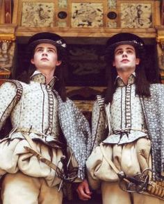 """Double-cross-dressing from the Globe's 2002 production of """"Twelfth Night"""", with Rhys Meredith as Sebastian and Michael Brown as Viola."""