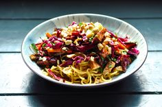 Two Blue Lemons: Noodle Salad with Baked Tofu & Lucky 13
