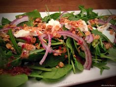 Gluten Free Spinach and Arugula Salad with Cranberry Maple Vinaigrette