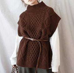Knit Vest, Knit Fashion, Knitting Designs, My Design, Design Ideas, Style Icons, Knitwear, Knit Crochet, Street Style