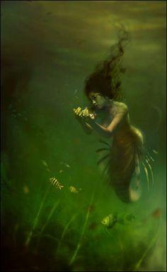 Mermaid by Linda Bergkvist.  Digital art | by Plum leaves