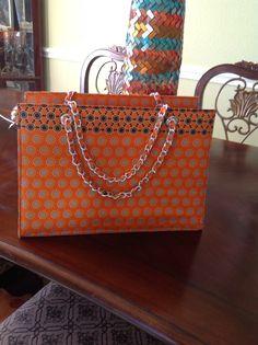 Orange Ankara Handbag https://www.pinterest.com/janethokoronkwo/crocodile-ostrich-and-ankara-handbags-and-purses/