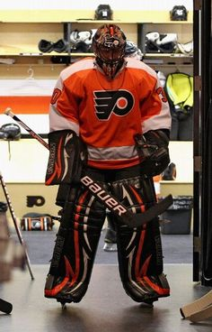 PHILADELPHIA, PA - APRIL 29: Ilya Bryzgalov #30 of the Philadelphia Flyers prepares to enter the ice surface during warmups prior to his game against the New Jersey Devils in Game One of the Eastern Conference Semifinals during the 2012 NHL Stanley Cup Playoffs on April 29, 2012 at the Wells Fargo Center in Philadelphia, Pennsylvania.