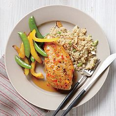 Glazed Chicken with Almond Quinoa Recipe | MyRecipes.com Mobile