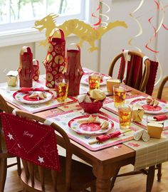 @ Pottery Barn Kids - Lunar New Year Celebration Chinese Theme Parties, Asian Party Themes, Chinese New Year Party, New Years Party, Chinese Holidays, Party Ideas, Chinese New Year 2016, Chinese New Year Food, Chinese New Year Decorations