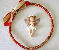Christmas Fairy Wreath by TheDollAndThePea on Etsy
