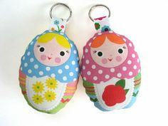 Cute Craft Tutorials, Handmade Toys, Printable Crafts, Kawaii Plush by Fantastic Toys: Softie Keychains
