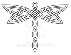 Celtic Knot Dragonfly 2 Revis by dystar on DeviantArt Dragonfly Drawing, Dragonfly Tattoo Design, Tattoo Designs, Celtic Quilt, Celtic Symbols, Celtic Art, Celtic Knots, Celtic Dragon, Celtic Knot Designs