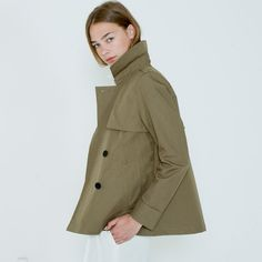 Trench - Sage – Everlane, $138 https://www.everlane.com/collections/womens-outerwear-trench/products/womens-outerwear-trench-sage