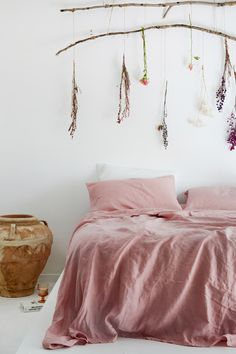1cf7bf1b4a23 Ultra luxurious 100% pure French linen quilt cover in Wildflower Pink