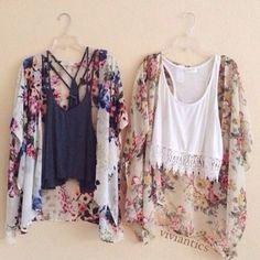 love the crop top tanks and floral