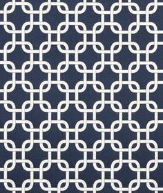 Premier Prints Gotcha Blue Twill Fabric $7.45 per yard Navy blue and white Geometric cotton print