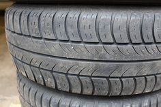 rubber is rarely glossy, has more gray-dark gray color tone with tiny irregularities