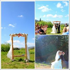 Love this rustic outdoor wedding ceremony