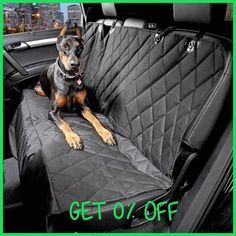 Hoopet 600D Oxford Pet Car Seat Covers Waterproof Back Bench Seat Car Interior Travel Accessories Car Seat Covers Mat