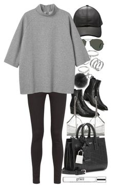 """""""Untitled #8452"""" by nikka-phillips ❤ liked on Polyvore featuring Yves Saint Laurent, Eres, Michael Kors, Apt. 9, Ray-Ban, AG Adriano Goldschmied, Monki, philosophy, women's clothing and women's fashion"""
