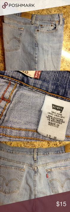 Authentic Levi's 515 Bootcut 12M Everyone loves a classic, lightly distressed pair of soft, well worn Levi's! Why pay today's boutique prices when you can get 'em here?  Authentic Levi's Bootcut 515 Jeans. Size 12M. 83% Cotton, 16% Polyester, 1% Spandex. Levi's Jeans Boot Cut
