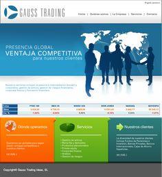 Sitio web para GAUSS TRADING - España - Año ©2008