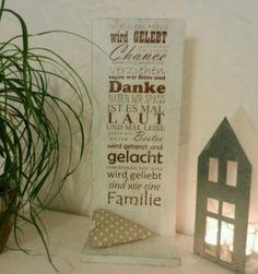 Holzschild Deko Schild Familie shabby chic in Eschenburg