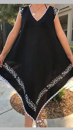 Source by largos verano Simple Dresses, Casual Dresses, Summer Dresses, Sewing Clothes, Diy Clothes, Abaya Fashion, Fashion Dresses, Girl Fashion, Womens Fashion