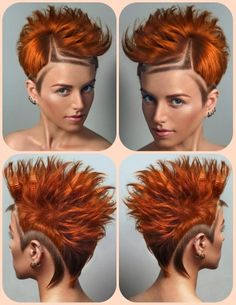 The color of fall hair color - pumpkin spice hair color in different styles and length of hair Ginger Hair Color, Red Hair Color, Purple Hair, Ombre Hair, Ombre Colour, Color Red, Red Ombre, Short Ombre, Orange Color