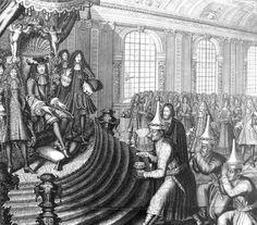 Siamese embassy of King Narai to Louis XIV in 1686, led by Kosa Pan. Engraving by Nicolas Larmessin.