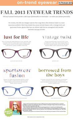 The Washington Post: Fall 2013 Eyewear Trends