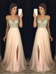 Cute Prom Dresses Prom Dresses 2018 Long Prom Dresses Prom Dresses A-Line Pink Prom Dresses Wite Prom Dresses, Prom Dresses Two Piece, A Line Prom Dresses, Homecoming Dresses, Formal Dresses, Pastel Prom Dress, Party Dresses, Pink Dresses, Dress Prom